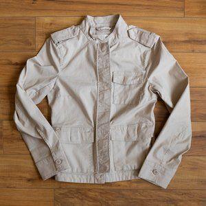 H&M Cargo Utility Jacket in Khaki Tan Size 4